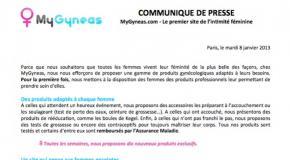 Communiqué de Presse - 8 janvier 2013